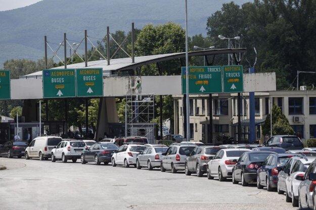 Grécko-bulharský hraničný prechod Promachonas 6. júla.