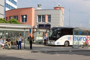 Autobusová stanica v Trnave.