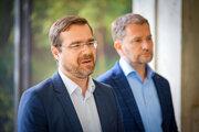 Minister zdravotníctva SR Marek Krajčí a predseda vlády SR Igor Matovič.