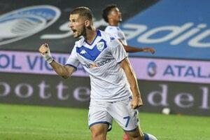 Nikolas Špalek po strelenom góle.