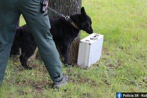 Kufrík preveroval aj policajný pes.