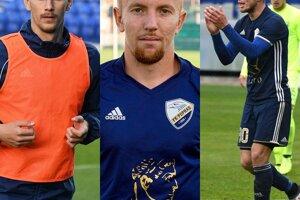 Poprad počas letnej prestávky opustili aj Martin Luberda, Tomáš Gajan a Kamil Zekucia (zľava).