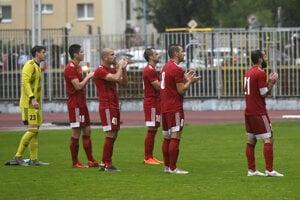 Futbalisti Dukly Banská Bystrica na ilustračnej fotografii.