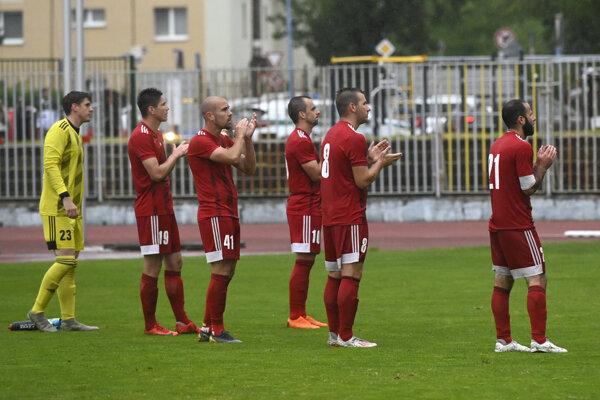 Futbalisti Banskej Bystrice na ilustračnej fotografii.