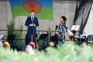 Premiér Matovič počas príhovoru pri príležitosti Pamätného dňa rómskeho holokaustu v Múzeu SNP.