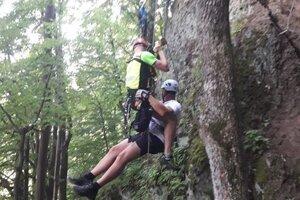 Pomoc opäť potreboval lezec na ferrate Výzva.