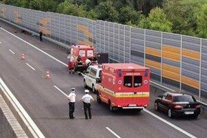 Tragická nehoda na diaľnici pri Budimíri.