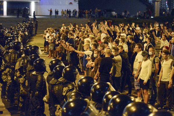 Protest v Breste