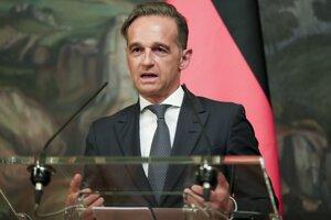 Heiko Maas počas rokovaní.