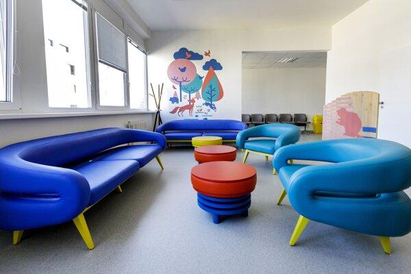 Snímka z odovzdania sonografickej ambulancie a čakárne Rádiologického oddelenia Národného ústavu detských chorôb v Bratislave 20. augusta 2020.