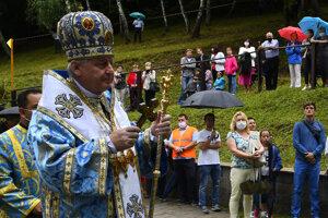 Gréckokatolíci na odpustovej slávnosti v Ľutine.