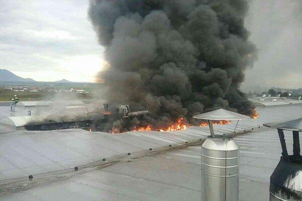 Požiar vo Veľkej Lomnici.
