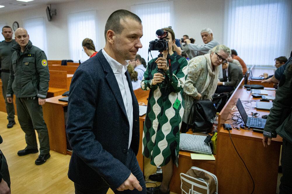 15. január 2020. Peter Tóth počas hlavného pojednávania vo veci vraždy novinára Jána Kuciaka a jeho snúbenice Martiny Kušnírovej.