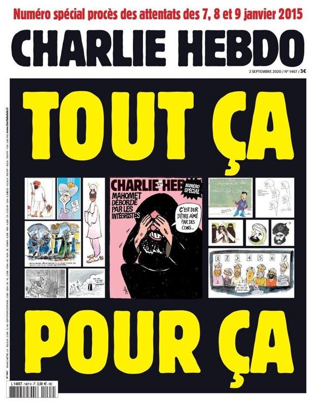 Obálka nového vydania Charlie Hebdo.