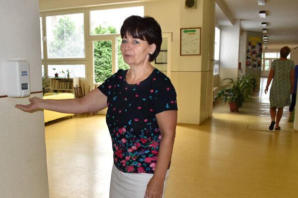 Riaditeľka košickej ZŠ Edita Oravcová.