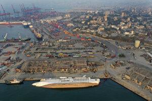 Prístav v Bejrúte 29. augusta 2020.