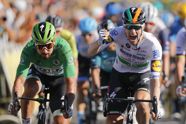 Peter Sagan a Sam Bennett na Tour de France 2020.