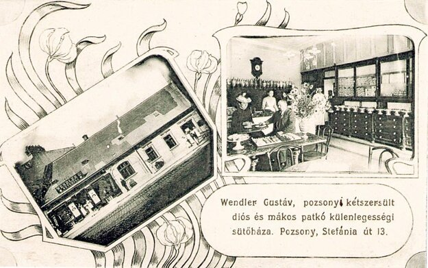 Wendlerova pekáreň prešporských rožkov a suchárov.