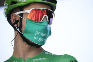 Peter Sagan pred štartom 8. etapy.