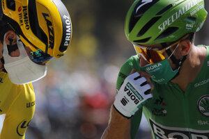 Peter Sagan a Primož Roglič pred štartom 10. etapy.