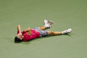 Dominic Thiem po víťazstve na US Open 2020.