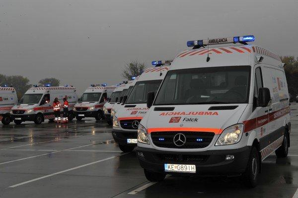 Ambulancie spoločnosti Falck vlani uskutočnili v SR 135-tisíc výjazdov.