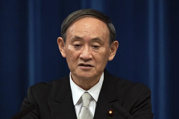Nový japonský premiér Jošihide Suga.