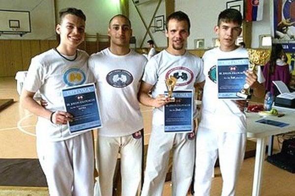 Zľava Zsolt Varga, Vladimír Solčáni, Martin Babiak a Adam Danko.