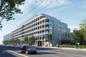 Projekt na Šancovej ulici, ktorý insolventnej skupine Arca pomáha predať obvinený podnikateľ Peter Horváth.