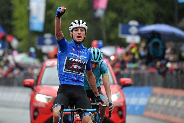 Kto získa modrý dres a vyhrá vrchársku súťaž na Giro d'Italia 2020? Vlani uspel Giulio Ciccone.