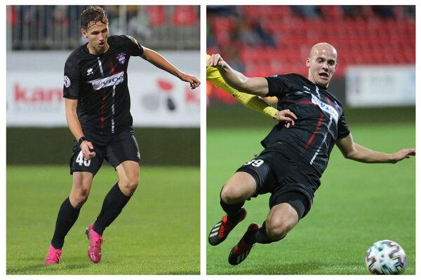 Filip Balaj (vľavo) a Matej Moško ešte na jar hrali za Žilinu. V sobotu ju s ViOnom sťali 4:0.