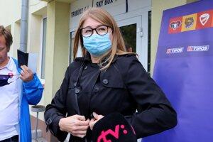 Riaditeľka APHK Aneta Büdiová po stretnutí klubov vo Zvolene.