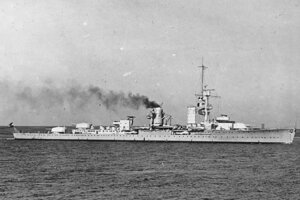Nemecká loď Karlsruhe.