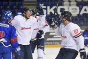 Hokejisti HC Slovan Bratislava na ilustračnej fotografii.