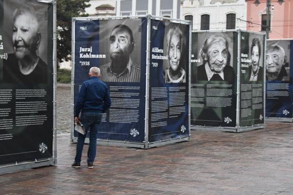 Výstava Po 2. svetovej vojne v centre Prešova.