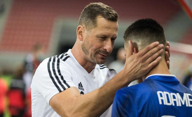 Tréner Gergely Geri (na fotke) a športový riaditeľ Ivan Galád podržali Martina Adamca aj napriek jeho nevýraznému úvodu. Šikovný stredopoliar sa odvďačil peknými gólmi v dvoch zápasoch v rade.