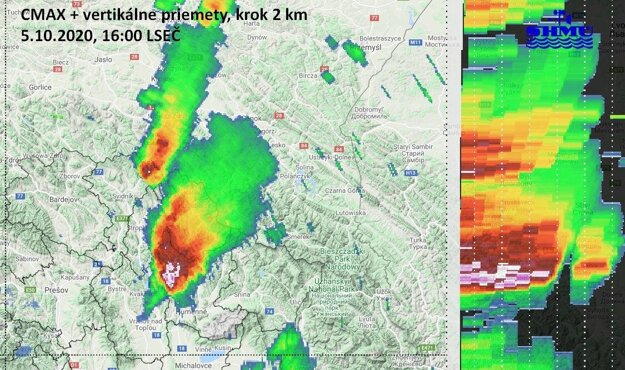 Supercelárna búrka na Hornom Zemplíne.