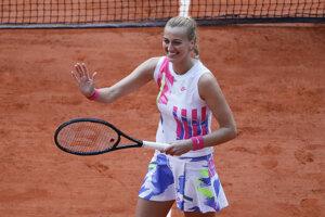Petra Kvitová po výhre vo štvrťfinále Roland Garros 2020.