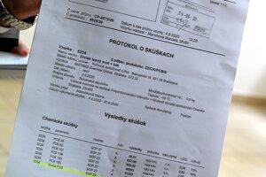 Protokol o skúške množstva PCB látok u diviaka lesného.