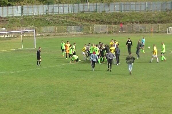 Druhý incident po zápase dorastencov B. Štiavnice s Krupinou.