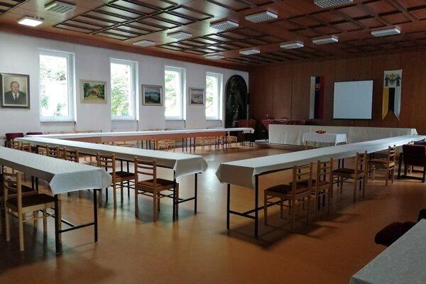 Rokovacia sála na mestskom úrade v Námestove
