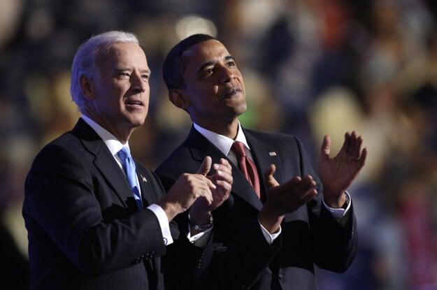 Joe Biden a bývalý prezident USA Barack Obama.