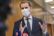 Premiér Igor Matovič po stredajšom rokovaní vlády.