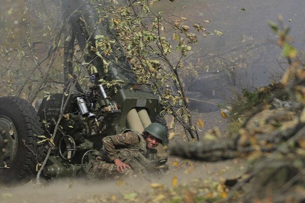 Člen delostrelectva arménskej armády v Náhornom Karabachu.