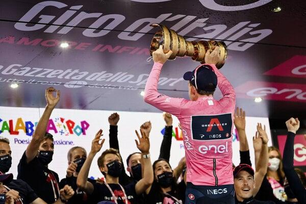 Tao Geoghegan Hart na Giro d'Italia 2020.