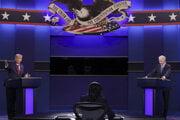 Predvolebná debata medzi Donaldom Trumpom a Joeom Bidenom.
