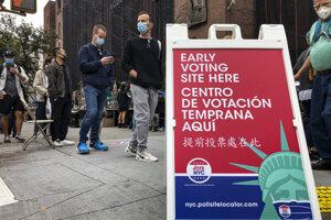 Predčasné hlasovanie v New Yorku.