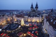 Vianočné trhy v Prahe.
