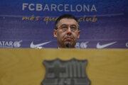 Prezident FC Barcelona Josep Maria Bartomeu na tlačovej konferencii v apríli 2014.