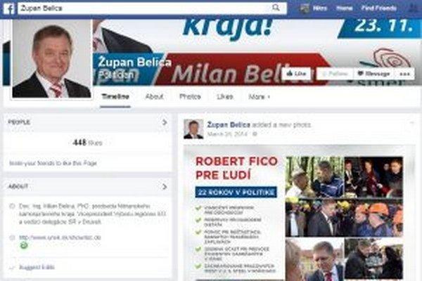 Belica bol na Facebooku veľkým obdivovateľom Fica.